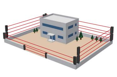 "Elektronische unsichtbare kabellose Barriere - Zaunterminal SET ""TL-20"""